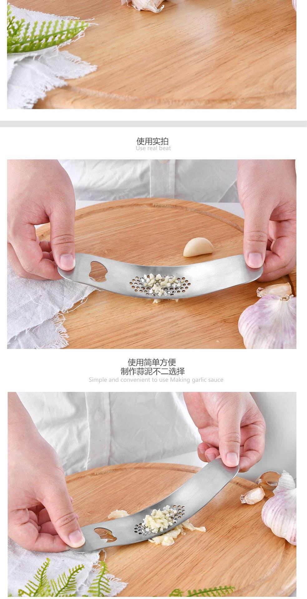 Кухонные гаджеты Толстая дуга Многофункциональный ручной пресс для чеснока пресс в мешке чеснодавка открывалка для бутылок