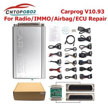 Best Price Carprog V10.93 Full 21 Adapter Car Prog 10.93 ECU Chip Tuning 10.05 ECU Programmer IMMO Airbag Reset Tool Free Keygen