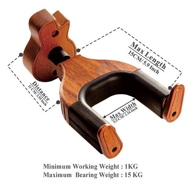 Montaggio A Parete della Chitarra di legno Holder Hanger Hook Keeper Appeso Staffa SEC88