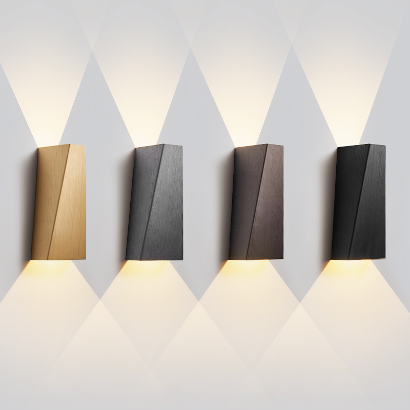 Creative Geometric LED Wall Light Modern Bedside Wall Lamp minimalist Background Staircase Aisle Corridor Wall Sconce Lighting