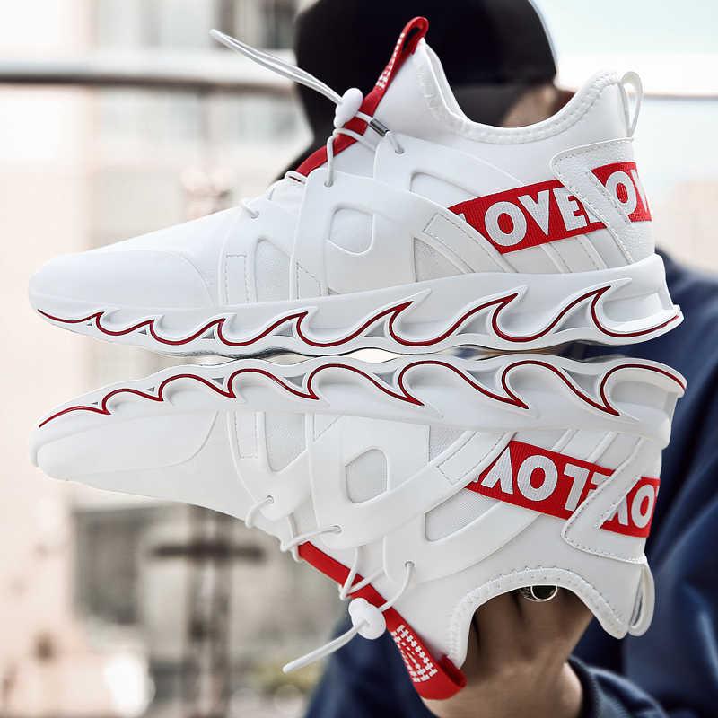 2020 新ブレードランニングシューズ男超クールな春の靴ノンスリップ光衝撃吸収通気性のスポーツスターの靴 zapatos BALCK