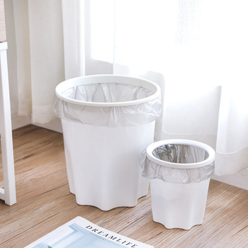 Multi-Purpose Coverless Plastic Trash Can Creative with Pressure Ring Household Living Room Bathroom Kitchen Clean