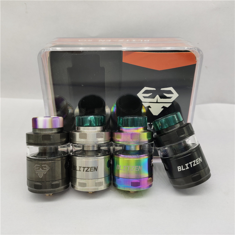 Newest Blitzen 24mm RTA Replaceable Tank Atomizers 2ml 5ml Ultimate Side Airflow Flavor Tank Rebuidable Postless High Quality
