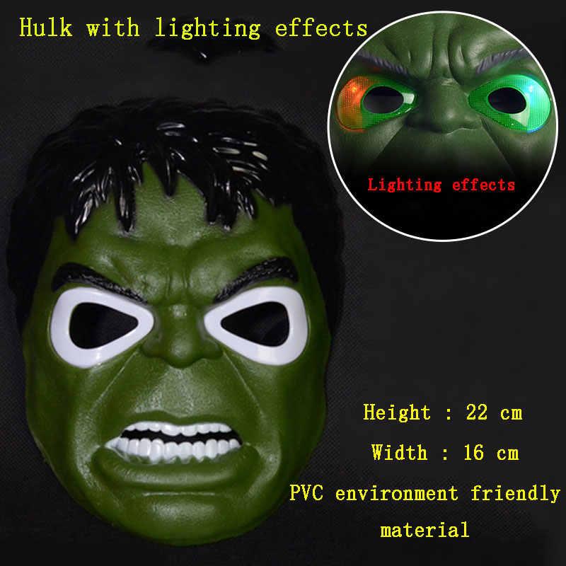 Marvel Avengers Trẻ Em Phát Sáng Mặt Nạ Thanos Biến Hình Đội Trưởng Mỹ Người Sắt Hulk Người Nhện Đồ Chơi Chống Đỡ Chrismas Tặng