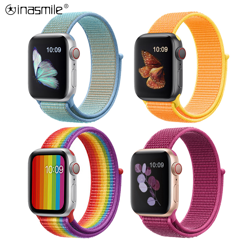 Pretty Comfortable Band For Apple Watch Series 3 2 1 38MM 42MM Nylon Soft Replacement Strap Loop For Iwatch Series 5 4 40MM 44MM