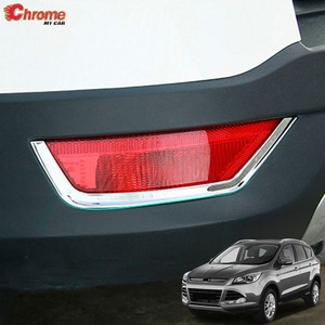 For Ford Escape Kuga 2 Mk2 2013 2014 2015 2016 2017 2018 2019 Chrome Rear Fog Light Foglight Lamp Cover Trim Molding Decoration(China)
