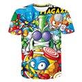Модная детская одежда, 3D»; Летние футболки в стиле хип популярной игры супер Zings с рисованным аниме, пальто-куртка для мальчиков/девочек, фут...