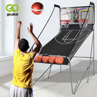 Indoor Double shot Electronic Basketball Game 4 Free Balls 8 Game Options Foldable Durable Iron Construction Basketball Game