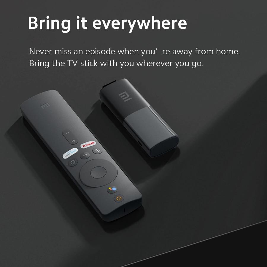 Global Version Xiaomi Mi TV Stick Android TV 9.0 Quad-core 1080P Dolby DTS HD Audio Decoding 1GB 8GB Google Assistant Netflix