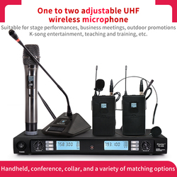 High quality high frequency wireless microphone for stage performance business meeting speech teacher microphone