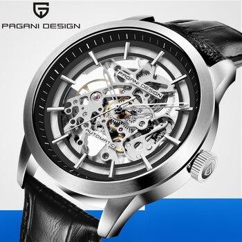 PAGANI DESIGN Fashion Mens Watches 2020 Hollow Leather Luxury Men Mechanical Automatic Waterproof Watch Male Relogio Masculino