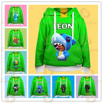 SHARK LEON 3D gwiazdy ubrania dla dzieci gra Leon bluzy dla dzieci Casual Star Tshirt chłopcy topy z długim rękawem Cartoon Tee tanie i dobre opinie Disney Na co dzień POLIESTER COTTON spandex CN (pochodzenie) Wiosna i jesień W stylu rysunkowym Dziergany komputerowo