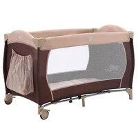 Cama de bebê portátil europeu multifuncional dobrável jogar cama neonatal dobrável viagem cama