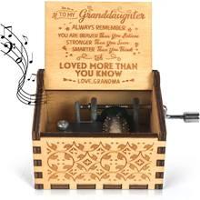 Музыкальная шкатулка cafete с ручной гравировкой механизмом
