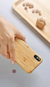 Image 5 - Yerli doğa gerçek bambu telefon iphone için kılıf 11 Pro Max XS MAX XR XS X kapak
