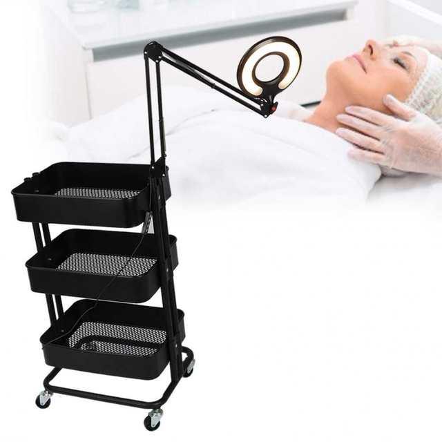 Online Shop Multi Functional 3 Tier Rolling Wheels Trolley Cart Hair Beauty Salon Storage Rack With Light Tattoo Body Art Trolley Cart Salon Aliexpress Mobile