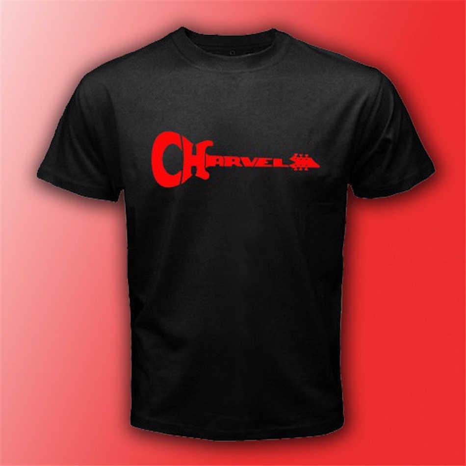 Charvel Gitar Logo Hitam T-shirt Ukuran S-3Xl Mens Unisex Musik Rock Tee Casual Kustom Dicetak Kemeja TEE