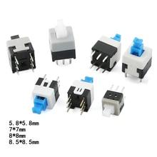 50PCS/lot Self locking Switch/Unlock Switch 5.8X5.8 7X7/8X8 8.5X8.5 Push-button Touch Rocker Switch 6PIN Button Switch
