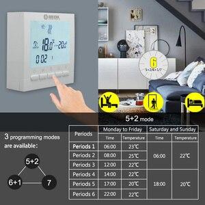 Image 3 - BOT 313W Programmierbare Batterie Power Zimmer Digitaler Thermostat für Gas Kessel Heizung Temperatur Control Wand Thermostat
