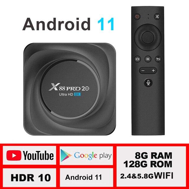 X88 pro 20 ТВ приставка android 11 8 ГБ 128 Гб 8K  1
