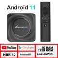 X88 pro 20 ТВ приставка android 11 8 ГБ 128 Гб 8K 2021 Новый смарт-ТВ коробка LEMFO 2,4 г 5,8 WI-FI BT 4,2 Google Voice Декодер каналов кабельного телевидения 11,0