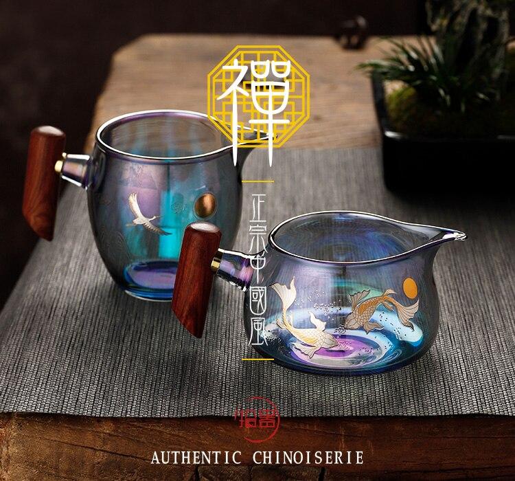 filtro, copo público, engrossado, mar de chá resistente ao calor