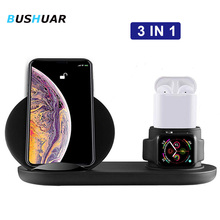 3 In 1 Wireless Charger Stand For iPhone X Xs Max Xr 8 Plus 10W Fast Charging for Apple Watch 2 3 4 Airpods Samsung S9 S8 Note 9