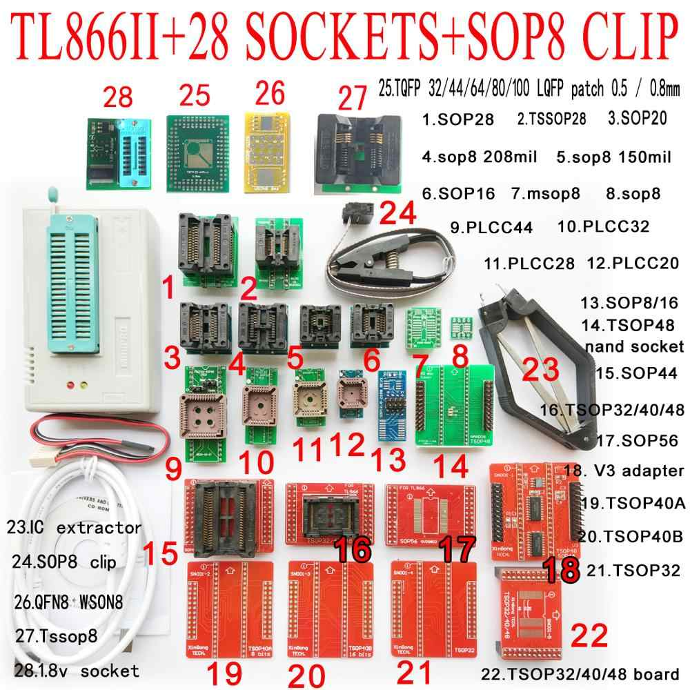 SOIC 8 sop8 Flash Chip IC Test Clip In-Circuit programma BIOS//24//25//93 NUOVO