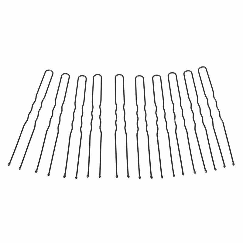 50 Pcs 6 Cm U Bentuk Rambut Klip Jepit untuk Wanita Gadis Bride Alat Styling Rambut Aksesoris Rambut Hitam jepit Rambut Logam Jepit
