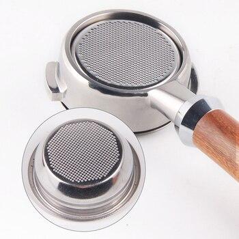 Edelstahlkörbe | 58mm Kaffee Boden Siebträger Kaffee Maschine Brauen Solide Holz Griff Mit Filter Korb Barista Zubehör Für Nuova