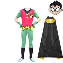 Новый костюм для косплея titans go супергероя Робина чиборга
