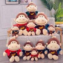 Cute soft banana monkey plush toy  stuffed animal King Kong creative gorilla doll pillow gift 30cm -70 cm WJ189