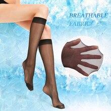 3/4 par mulheres sexy joelho meias altas malha fina meias de náilon hosiery verão moda meninas senhoras transparente sobre o joelho meias
