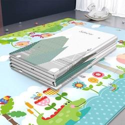 Большой размер, коврик для ползания, детские игрушки, двухсторонний, водонепроницаемый, Eva, мягкая пена, коврик для детского сада, складной, о...