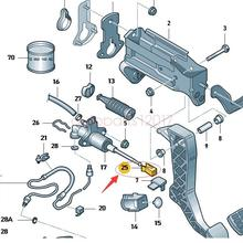 Clutch Master Cylinder Pedal Support Clip For Audi VWSkodaSeat 1H0721357