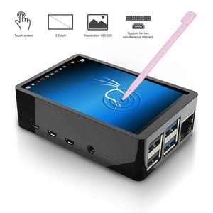 Image 4 - 3.5 calowy ekran dotykowy TFT LCD + etui z ABS + pióro dotykowe wyświetlacz LCD wejście HDMI zestaw Monitor dla Raspberry Pi 4 B