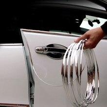 Borde de puerta de goma antiarañazos para coche, tiras adhesivas, tira anticolisión, accesorios de coche para KIA Audi, asiento para LADA, etc.
