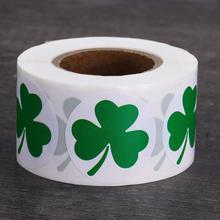 500 pcs labels Saint Patrick's Day sticker cute shamrock shape stickers children's adhesive decorative stationery