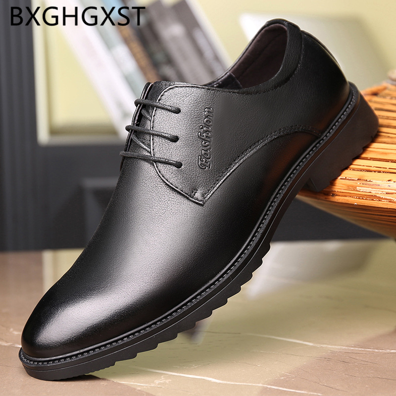 Italian Men Dress Shoes Black Dress Loafers Mens Shoes Genuine Leather Slip Dress Coiffeur Oxford Shoes for Men Formal Zapatos