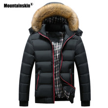 Mountainskin Men's Winter Jackets Thick Hooded Fur Collar Parka Men Coats Casual Padded Mens Jackets Male Clothing 6XL 7XL SA748(China)