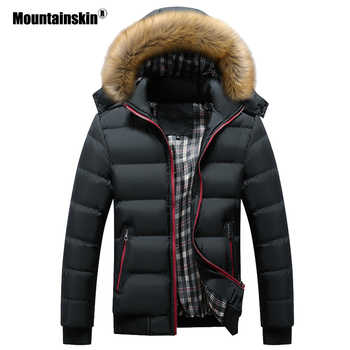Mountainskin Men's Winter Jackets Thick Hooded Fur Collar Parka Men Coats Casual Padded Mens Jackets Male Clothing 6XL 7XL SA748 - DISCOUNT ITEM  39% OFF All Category