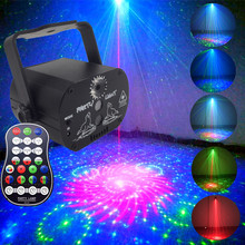 Mini Disco Light Sound Activated Disco DJ LED Stage Light RGB Laser Projector Light Lamp Home KTV Bar Рождество Party Kids Gift