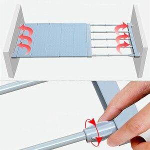 Image 4 - Étagère de rangement ajustable pour armoire/vêtements/cuisine rangement, organiseur de placard, couche en plastique supports étagères de diviseurs