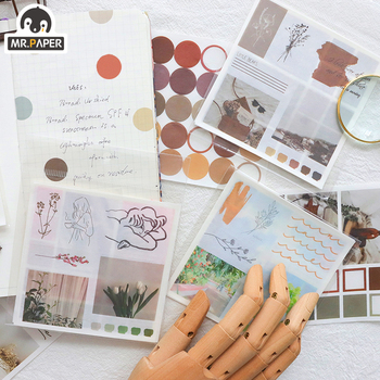 M 4Pcs/box 4 Designs Ins Style Artistic Spot Simple Washi Sticker Scrapbooking Planner Diary DIY Deco Stationery Stickers