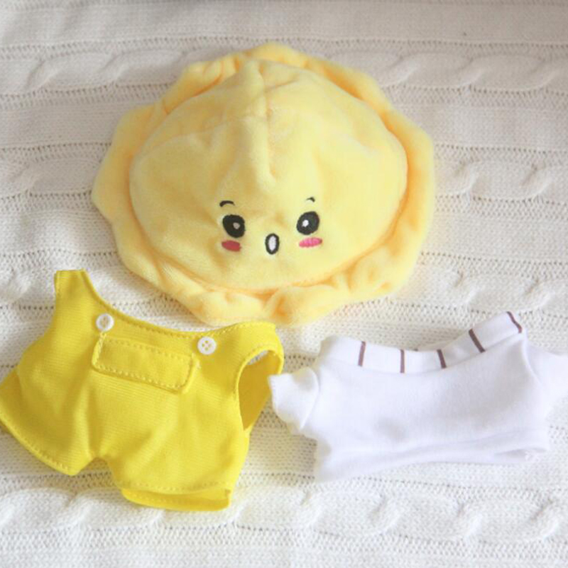 22cm Doll Clothes For Kpop Doll Hat Plush Toys Soft Skirt Sweater Play House Dolls Accessories For Doll Gifts