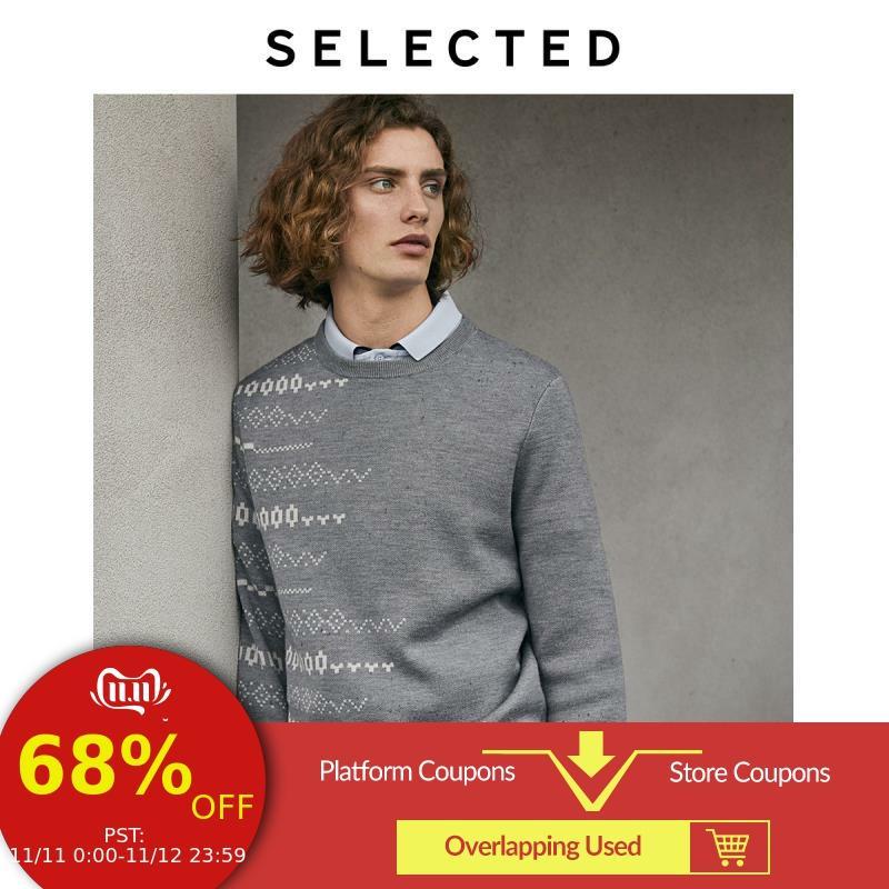 SELECTED Men's Woolen Round Neckline Knit LAB|419424522
