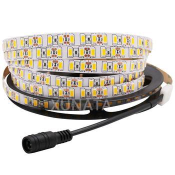 цена на DC12V 120leds/m 5630 SMD Led Strip Light 5M 600LED 5730 0.5M 1M 2M 3M 4M Flexible Tape Light Non-waterproof White / Warm White