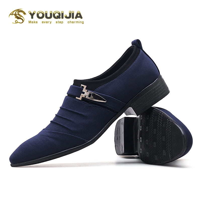 Fashion British Style Oxfords Shoes Men Pointed Toe Wedding Business Leather Formal Dress Shoes Summer Flats Shoes Zapatos Brock
