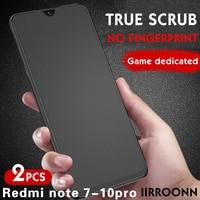 2 unids/lote mate vidrio templado para Redmi Note 10 Pro nota 9Pro Redmi Note 8 Pro Protector de pantalla para Redmi Note 10S Nota 9 de vidrio