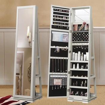 Напольный шкаф-зеркало для украшений Smart Bird Omi 80